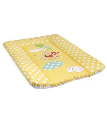 Detská prebaľovacia podložka v žlto medovej farbe s motívom Medvedíka Pú - 70x50x5 cm - POSLEDNÝ KUS