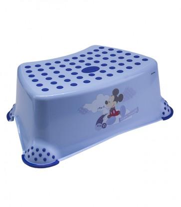 Detský taburet v modrej farbe s motívom Mickey - 40x28x14 cm - POSLEDNÉ 4 KS