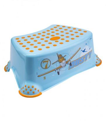 Detský taburet v modrej farbe s motívom Planes - 40x28x14 cm - POSLEDNÉ 4 KS