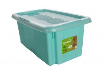 Plastový box Colours, 7 l, modrý s vekom