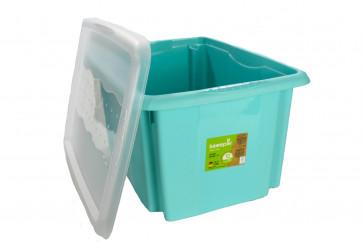 Plastový box Colours, 24 l, modrý s vekom