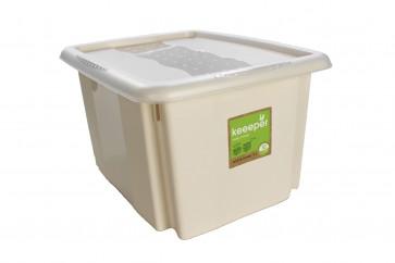 Plastový box Colours, 24 l, krémový s vekom