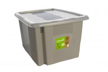 Plastový box Colours, 15 l, sivý s vekom