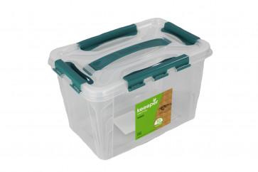 Plastový Clippy box, 10 l, priehľadný, 39x19x12,4cm - POSLEDNÝCH 5 KS
