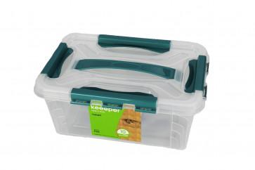 Plastový Clippy box, 4,2 l, priehľadný, 29x19x12,4 cm - POSLEDNÝCH 5 KS