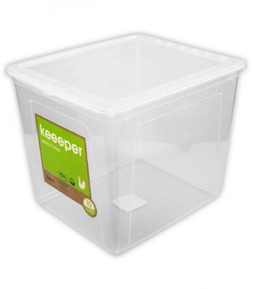 Plastový box Basixx 30 l, priehľadný, 39x33,5x35 cm