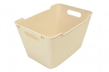 Plastový box LOFT 20 l, krémový, 40x28x25 cm.