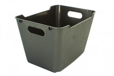 Plastový box LOFT 1,8 l, grafit, 19,5x14x10 cm. POSLEDNÝCH 24 KS