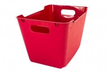 Plastový box LOFT 20 l, tmavo červený, 40x28x25 cm.