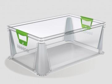 Plastový box Eurobox 45 l, priehľadný, 59x39x23,5 cm