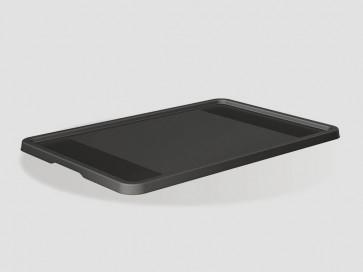 Plastový vrchnák Eurobox 40x30 cm, grafit