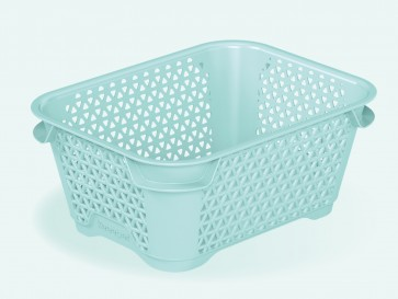 Plastový košík Mirko, A7, modrý, 16x12x7 cm