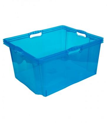 Plastový box Multi XXL, svieža modrý, bez veka, 52x43x26 cm