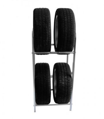 Regál na pneumatiky, pozink, 4 ks pneumatík