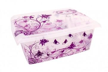"Plastový box Fashion, ""Romance"", 39x29x14cm - POSLEDNÝCH 7 KS"