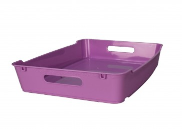 Plastový box LOFT A4, lila, 37x28x6,5 cm