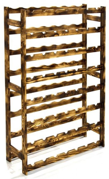 Regál na víno Raced, na 56 fliaš, Rustikal, 118 x 73 x 25 cm