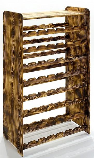 Regal na víno Rack, na 56 fliaš, odtieň Rustikal, 118x72x27 cm