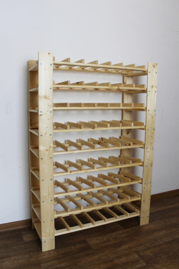 Stojan pre uskladnenie vína, na 63 fliaš, natur