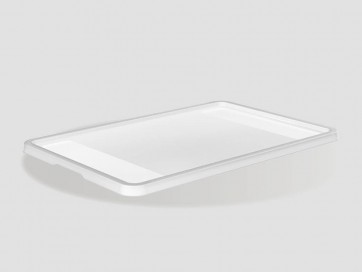 Plastový vrchnák Eurobox 60x40 cm, priehľadný