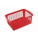 Plastový košík, střední, červený, 30x20x11 cm - POSLEDNÍCH 6 KS