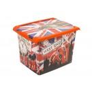 "Plastový box Fashion, ""LONDON"", 39x29x27cm - POSLEDNÝ KUS"