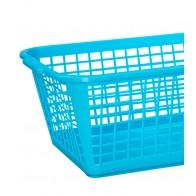 Plastový košík, velký, modrý, 35x26x15 cm - POSLEDNÝ KUS