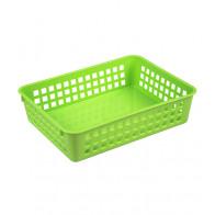 Plastový košík, A5, zelený, 24,5x18,5x6 cm