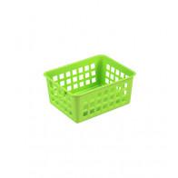 Plastový košík, A7 zelený, 14x11x6 cm