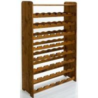 Regál na víno Rack, na 56 fliaš, odtieň Lazur - palisander, 118x72x27 cm