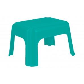 Plastový taburet morská modrá, 36,5x30x24 cm - POSLEDNÝCH 11 KS