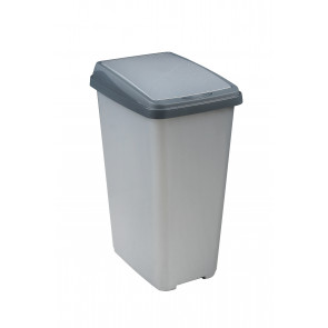 """Odpadkový koš """"Slim-Bin"""" 45 l, stříbrný"""