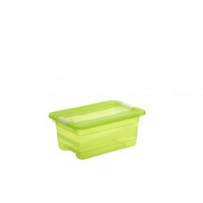 Plastový box Crystal 4 l, svieža zelený, 29,5x19,5x12,5 cm