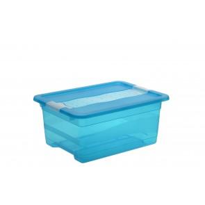 Plastový box Crystal 12 l, svieža modrý, 39,5x29,5x17,5 cm