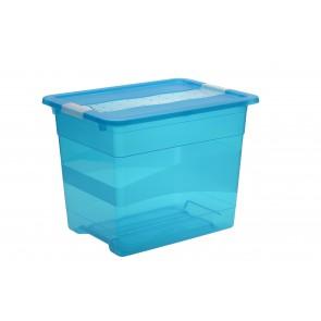 Plastový box Crystal 24 l, svieža modrý, 39,5x29,5x30 cm