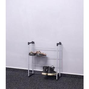 Kovový botník Praktik, 55x46x21 cm, 8 párov topánok