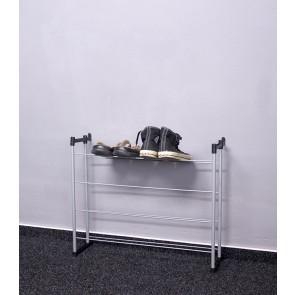 Kovový botník Praktik, 53x66x21 cm, 12 párov topánek