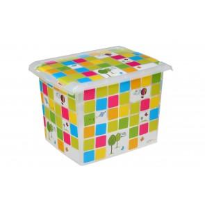 """Plastový box Fashion, """"KIDS"""", 39x29x27 cm - POSLEDNÝCH 7 KS"""