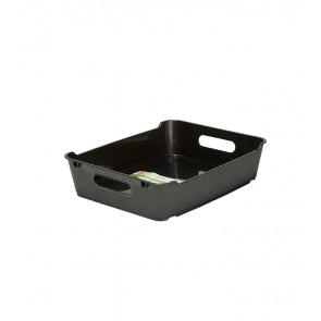 Plastový box LOFT A5, grafit, 28x22x6,5 cm.