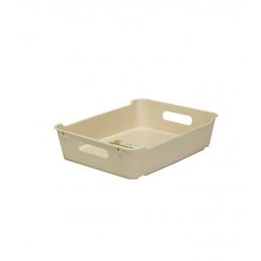 Plastový box LOFT A5, krémový, 28x22x6,5 cm. POSLEDNÝCH 15 KS