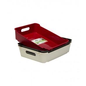 Plastový box LOFT A5, grafit, 28x22x6,5 cm. POSLEDNÝCH 14 KS