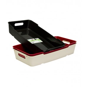 Plastový box LOFT 5,5 l, krémový, 40x22x7 cm