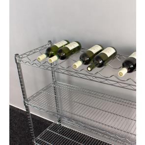 Chrómovaný stojan na víno Sirius, 9 fliaš, 95x90x35 cm, var.3