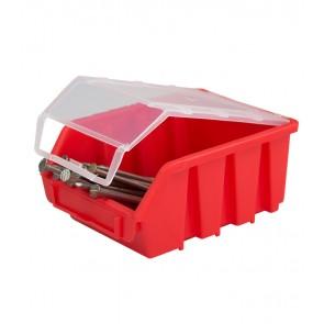 Box na drobný materiál s vrchnákom, malý, červený,16x11,6x7,5 cm