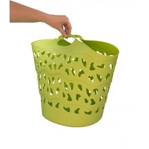 Flexibilní koš FLEX, 30 l, zelený, 42x40 cm - POSLEDNÍCH 4 KS