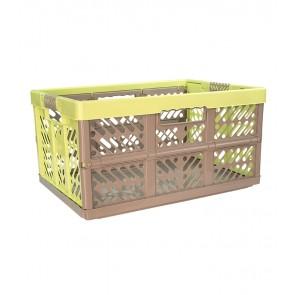 Plastový skladací box, veľký, sivo zelený, 54x37x28 cm