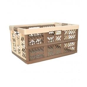 Plastový skladací box, veľký, sivo krémový, 54x37x28 cm