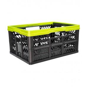 Plastový skladací box, malý, zelený, 47x34x23 cm
