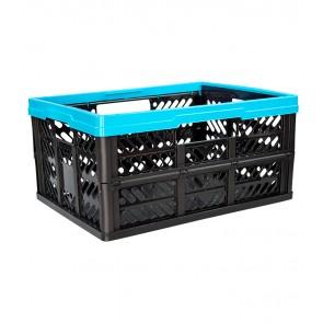 Plastový skladací box, malý, modrý, 47x34x23 cm
