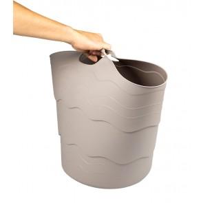 Plastový koš FLEX, 30 l, šedý - POSLEDNÍCH 6 KS